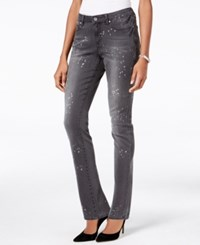 Earl Jeans Paint Splatter Skinny Dark Grey