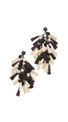Tory Burch Tassel Earrings Ivory Black