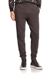 Alexander Wang Double Knit Track Pants Charcoal