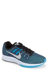 Men's Nike 'Air Zoom Structure 19 Flash' Running Shoe Squadron Blue Silver Lagoon