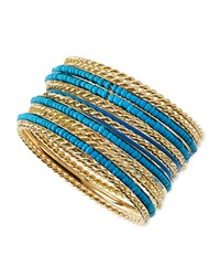 Jules Smith Designs Jules Smith Beaded Golden Bangles Set Of 13