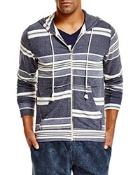 Sol Angeles Turkish Stripe Hoodie Indigo