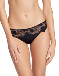 Felina Monica Stretch Floral Thong Black