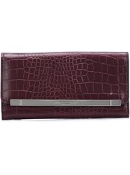 Christian Siriano Snakeskin Effect Flap Clutch Pink And Purple
