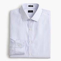 J.Crew Ludlow Shirt In Striped End On End Cotton Classic Blue