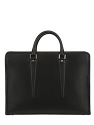 Ohba Embossed Leather Briefcase
