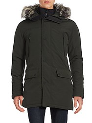 Michael Kors Bibby Snorkel Faux Fur Trimmed Winter Parka Midnight Blue