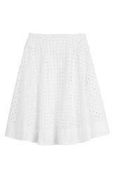 Ermanno Scervino Cotton Skirt With Cut Out Detail