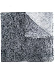 Faliero Sarti Textured Reversible Scarf Grey