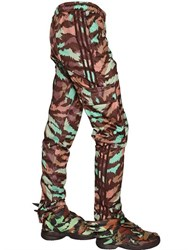 Adidas By Jeremy Scott Zip Up Nylon Cargo Pants