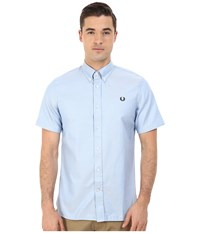 Fred Perry Classic Twill Shirt Himmel Blue Men's Clothing