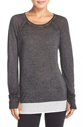 Women's Marc New York 'Luxe Super Wash' Long Sleeve Tee Black