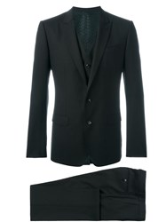 Dolce And Gabbana Three Piece Suit Brown