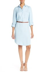 Women's Eci Belted Tencel Shirtdress Denim