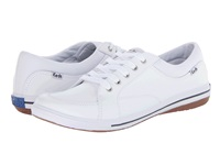 Keds Vollie Ltt White Leather Women's Lace Up Casual Shoes