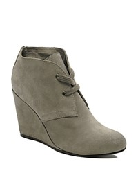Dolce Vita Gardyn Lace Up Wedge Booties Taupe