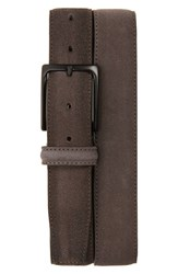 Men's Canali Suede Belt Grey