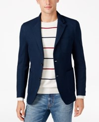 Tommy Hilfiger Men's Structured Jersey Blazer Midnight