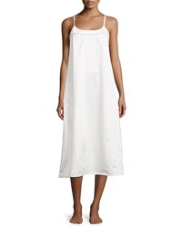 Louis At Home Perla Sleeveless Long Nightgown White Fawn Women's