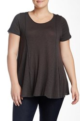Final Touch Slub A Line Tee Plus Size Black