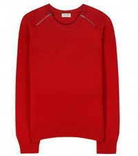Saint Laurent Wool And Cashmere Blend Sweater Red