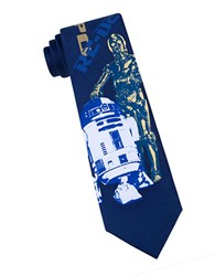 Star Wars C3po And R2d2 Tie Blue
