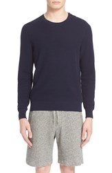 Men's The Kooples Button Shoulder Mesh Sweater Navy