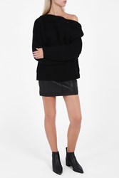 Acne Studios Women S Holden Chunky Jumper Boutique1 Black
