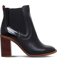 Kg By Kurt Geiger Safari Leather Ankle Boots Black