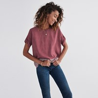 Madewell Silk Premiere Bow Back Tee In Ascot Tile