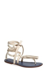 Women's Bernardo Footwear 'Mosie' Tassel Sandal Chalk Leather