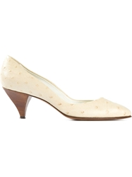 Pollini Vintage Pointed Toe Pumps White