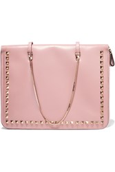 Valentino Embellished Leather Ipad Case Pink