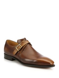 Corthay Arca Leather Monk Strap Dress Shoes Dark Brown