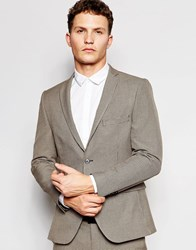 Selected Homme Dogtooth Wedding Suit Jacket With Stretch Light Brown