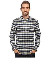 Lacoste Long Sleeve Oxford Check Navy Blue Sunny Breeze Men's Clothing Multi