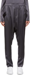 Baja East Grey Satin Lounge Pants