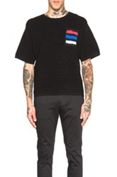 Opening Ceremony Symphony Patch Pocket Boxy Tee In Black