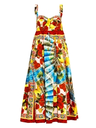 Dolce And Gabbana Multi Print Cotton Dress