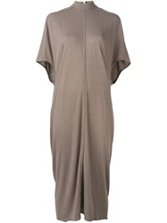 Rick Owens Lilies Light Pleat T Shirt Dress