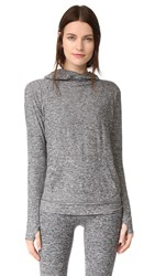 Beyond Yoga Featherweight Space Dye Pullover Black White