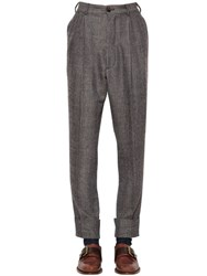 Vivienne Westwood Wool And Cotton Herringbone Pants
