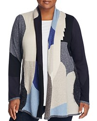 Nic And Zoe Plus Overland Color Block Cardigan Multi