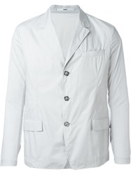 Kenzo Three Button Blazer Grey