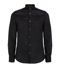 Philipp Plein Easy Breezy Skull Button Shirt Male Black