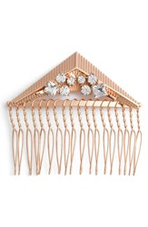 Berry Crystal Triangle Hair Comb