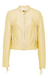 Rebecca Taylor Patched Leather Jacket Yellow