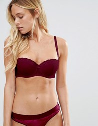 New Look Lace Strapless Bra Burgundy Pink