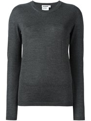 Jil Sander Crew Neck Jumper Grey