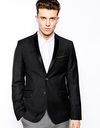 Ted Baker Blazer With Satin Lapel Black